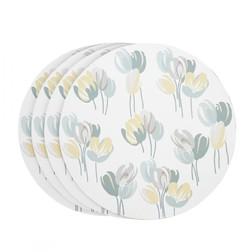 Набор круглых подставок под посуду AVA SET OF 4 PLACEMATS Ø24 (Duck Egg)