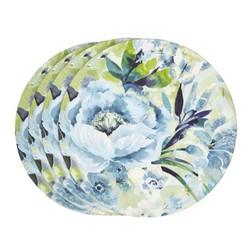 Набор круглых подставок под посуду в голубые цветы FRANCESCA SET OF 4 PLACEMATS Ø24 (Multi)