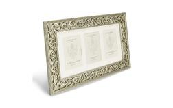 Красивая рамка на три фото с зеркальной основой ROCOCO 3 APERTURE FRAME 30*48*1,5 (Champagne)