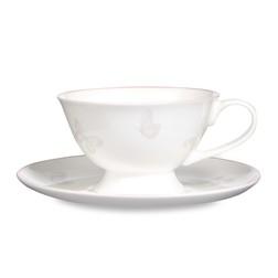 Чашка с блюдцем в розовые бабочки BUTTERFLY GARDEN CUP & SAUCER 7*11,5, Ø17 (Blush Pink)