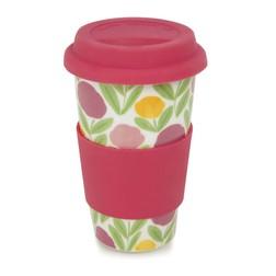 Чашка с резиновой крышкой розового цвета SERENA COFFEE CUP 280ml (Multi)