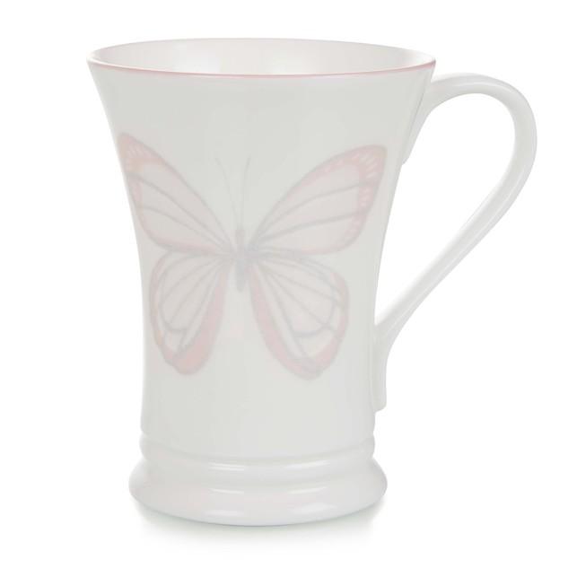 Чашка с рисунком розовых бабочек BUTTERFLY GARDEN 14,7*6,4 (Blush Pink)