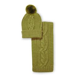 Набор шапка и шарф зеленого цвета SH 644