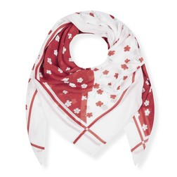 Шарф красно-белого цвета SH 906
