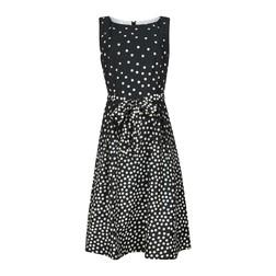 Черное платье в белый горох MD 126