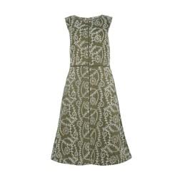 Платье цвета хаки с перфорацией MD 132
