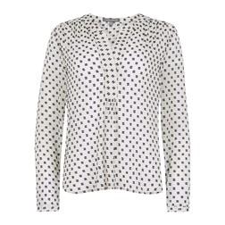 Белая блуза с абстрактным принтом BL 479