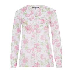 Блуза молочного цвета с цветочным принтом BL 494