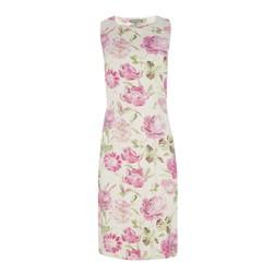 Платье кремового цвета с цветочным принтом MD 111