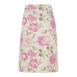 А-образная юбка кремового цвета с цветочным принтом MS 826