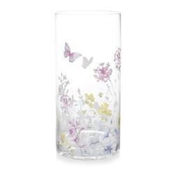 Стеклянная ваза в бабочки и цветы MEADOW FLOWER VASE 12*25 (Multi)