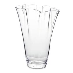 Большая стеклянная ваза HANDKERCHIFF EDGE VASE 23,5*30,5 (Clear)