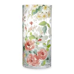 Стеклянная ваза в яркие цветы SPRING FLORAL VASE 25*12 (Multi)