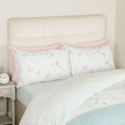 Двойной набор постели в цветы магнолии с простынью MAGNOLIA IN A BAG DB 200*200, 135*190*32, 50*75 s