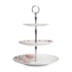 Подставка для десертов и фруктов в розовые цветы ALBERTINE 3 TIER CAKESTAND 28*37 (Blush Pink)