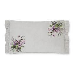 Декоративная подушка с вышивкой цветов AVRIL EMB 30*50 (Sugared Violet)