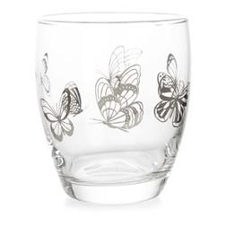 Стеклянный стакан с рисунком бабочек BUTTERFLY GARDEN TUMBLER 9,5*8 (Clear)