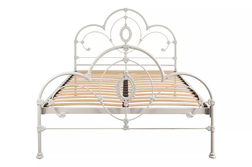 Одинарная металлическая кровать цвета слоновой кости SOMERSET 3FT BASE 129*94*201 (Ivory)