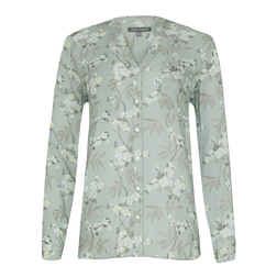 Мятная блуза с цветочным принтом BL 056