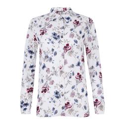 Кремовая  блуза с принтом цветов  BL 422