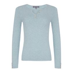 Пуловер голубого цвета JP 872