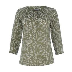 Блуза цвета хаки с перфорацией BL 476