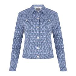 Легкая куртка голубого цвета CT 958
