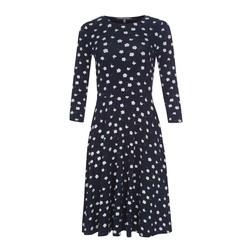 Платье темно-синего цвета с рисунком белых цветов MD 121