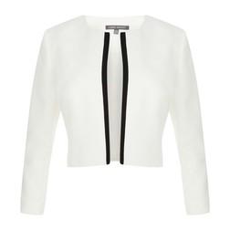Пиджак белого цвета с черной окантовкой CT 978