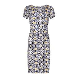 Платье кремового цвета с абстрактным принтом MD 187