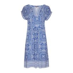 Синее платье с этническим принтом MD 221