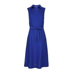 Синее платье из 100% льна MD 241