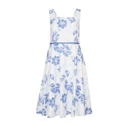 Белое платье с принтом цветов MD 244