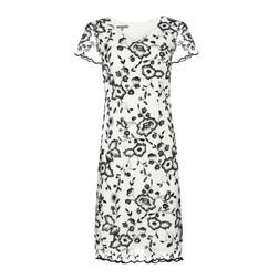 Платье молочного цвета с вышитыми цветами MD 274