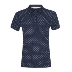Синяя футболка с воротником в мелкий горох TS 874