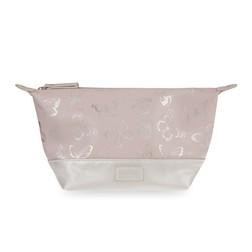 Широкая косметичка с рисунком бабочек BUTTERFLY COSMETIC BAG 14*27*11 (Blush Pink)