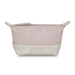 Небольшая косметичка с рисунком бабочек BUTTERFLY MAKE UP BAG 11*6*19 (Blush Pink)