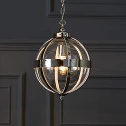 Большая люстра серебристого цвета в форме шара ODIHAM 50*31,5 (Chrome)