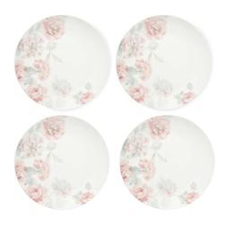 Набор круглых подставок под посуду в розовые цветы ALBERTINE SET OF 4 CAKE PLATES Ø20,5 (Pink)