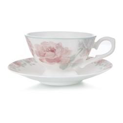 Чашка с блюдцем в розовые цветы ALBERTINE CUP & SAUCER 6,5*11, Ø17 (Pink)