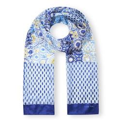 Шелковый шарф с комбинированным принтом SH 956