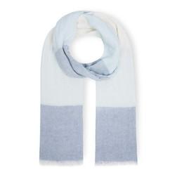 Шарф бело-голубого цвета SH 965