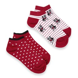 Набор носков в красно-белой цветовой гамме SH 971