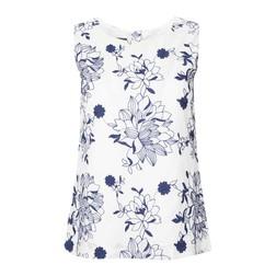 Блуза без рукавов с вышитыми цветами BL 505