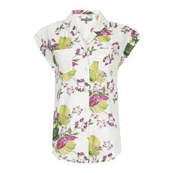 Белая блуза с цветочным принтом BL 528