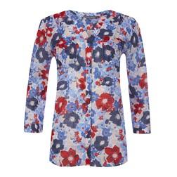 Блуза с ярким цветочным принтом BL 543