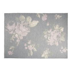 Ковер серого цвета с рисунком крупных цветов VIOLETTA 140*200 (Iris)