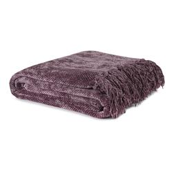 Мягкий плед из вискозы фиолетового цвета HAMILTON 130*170 (Grape)