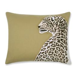 Декоративная подушка с вышивкой леопарда LEOPARD EMB 40*50 (Antique Gold)